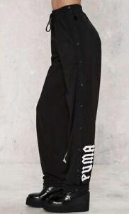 NWT NEW Fenty PUMA X Rihanna Tear Away Track Pants Black Women's Size S