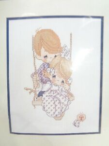VINTAGE 1995 PRECIOUS MOMENTS COUNTED CROSS STITCH KIT LOVE IS KIND JANLENN CORP