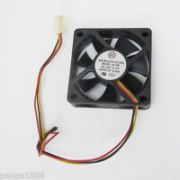 1pc Brushless DC Cooling Fan 24V 0.10A 60x60x15mm 60mm 6015S 7 blades 3pin/3wire