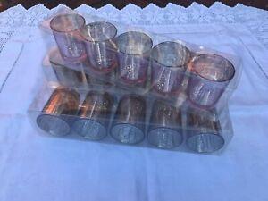15 x Small Mercury Glass Tea-Light Holders (Coloured - 3 Packs of 5)