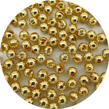 Gold Color, 100 Tungsten Slotted Beads, 4 Sizes Assortment, Fly Tying, Fishing