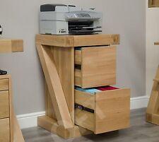 Z filing cabinet office storage 2 drawers solid oak designer furniture