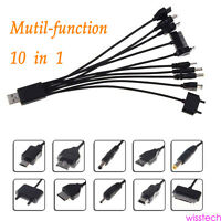 10 in 1 Universal Multi Charger Cable Lead for Mobile Phone Mini Micro USB WI2