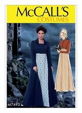 M7493 Sewing Pattern Costume Women Regency Ball Jane Austen Dress Coat Sz 6-14