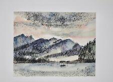 Guy Bardone - Peinture originale - Aquarelle - Lac du Jura