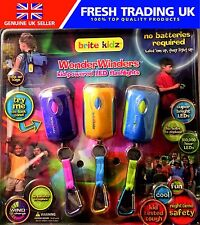 Brite Kidz Wonder WINDERS Confezione da 3 LED Wind Up Torce/TORCE ELETTRICHE