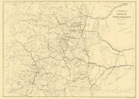 Colorado Drainage - Hayden 1881 - 23.00 x 32.32