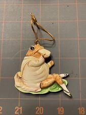 Vintage 1982 Schmid Fw Beatrix Potter Jeremy Fisher Frog Ceramic Ornament