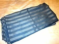 """JC Penney Blue Striped Valance Scarf 216"""" wide x 56"""" L, more available"""