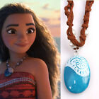 Hot Animie Moana Ocean Romance Rope Chain Necklaces Blue Stone Pendant Jewelry