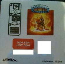 Molten Hot Dog Skylanders Giants Sticker/Code Only!