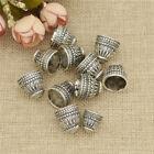 10x Silver Pagoda Tassel Beads Caps Torus Findings Receptacle Jewelry Making