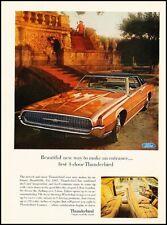 1967 Ford Thunderbird 4-door Vintage Advertisement Print Art Car Ad K106