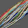 Czech Crystal 3x4mm Faceted Rondelle Loose Glass Beads For Bracelet Necklace