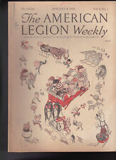 American Legion Magazine Open Sleigh Cover  January 4 1924