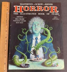 VINTAGE VOLUME 1 #2 1990 HORROR THE ILLUSTRATED BOOK OF FEARS MAGAZINE 61821