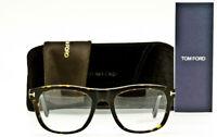 New Tom Ford TF5480 052 Eyeglass Frame Dark Havana Tortoise FT5480/V 52mm