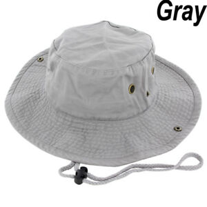 Boonie Bucket Hat Cap 100% Cotton Fishing Hunting Safari Summer Military Men Sun