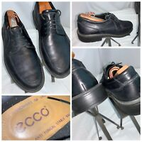 Ecco Oxford Lace Shoes 8.5 Men (42) Black Leather Lace Worn Once YGI H0S-20