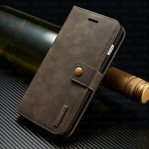 For iPhone 11/12/13 PRO MAX Leather Removable Wallet Magnetic Card Case Cover