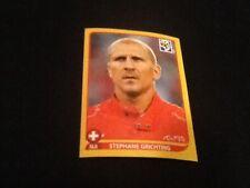 #586 Stephane Grichting Suiza Panini Copa del Mundo 2010 oro suizo Ed Pegatina