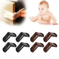 4Pcs Baby Child Safety Lock Door Buckle Drawer Cabinets Anti Pinch Hand Protect