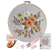 Stamped Embroidery Kit - for Diy Beginner Starter Stitch Kit for Art Craft Handy