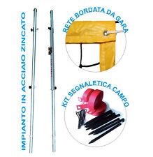 Starter Kit Beach Volley con pali in acciaio rete da gara e fettucce segnacampo