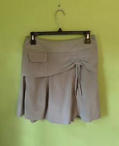 Athleta Wherever Skort Size 2 Light Gray Stretch Skirt Shorts Cinch Front NICE!
