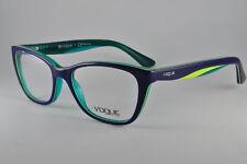 Vogue Eyeglasses VO 2961 2311 Blue/Yellow /Transparent Aqua, Size 51-17-135