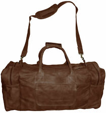 Leather Duffle Bag For Travel With Shoulder Strap