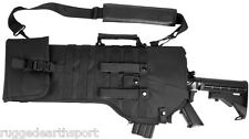 Rifle Scabbard Case BLACK NEW Deluxe MOLLE Shoulder Sling Tactical 556 223 762