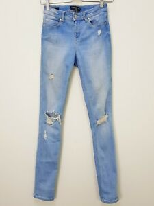 FOREVER NEW Womens Size 6 Blue Rosie Low Rise Skinny Distressed Jeans