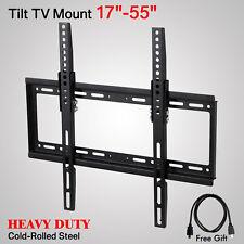 LCD LED Plasma Flat Tilt TV Wall Mount Bracket 17 22 27 32 37 40 42 46 47 50 55