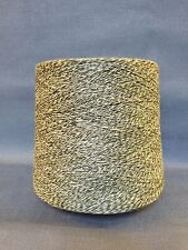QUALITY YARN CONE 2 PLY 100% LINEN KYLBEGS DK GREEN WHITE COLOUR 1000g 20 BALLS