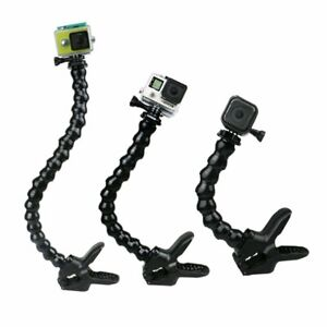 Jaws Goose Neck Stand Mount for GoPro Hero 3+ 3 4 5 6 7 8 9 Black Silver White