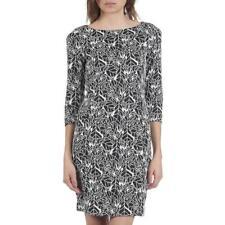 Armani Jeans Abstract Leaf Print Dress Size 40 > UK 8 Black