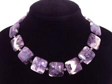 Necklace Cape Amethyst 25mm Square FF04