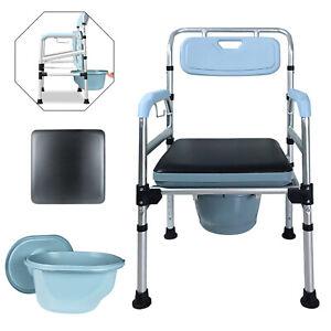 Toilettenstuhl Nachtstuhl Höhenverstellbar Rückenlehneund Antirutschenden Stuhl