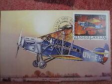 AVIATION 4 airplane 1987 POTEZ 29 private maxicard JUGOSLAVIA MAXIMUM CARD