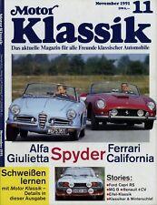 Motor Klassik 11/91 1991 Trabant P1100 MGB Mercedes 170 S Ford Capri RS 2600 4CV