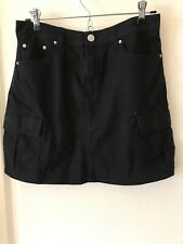hm womens Black Cargo Skirt Size 6