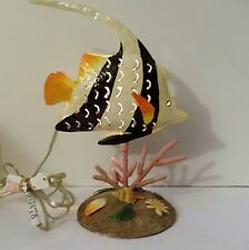 Fish Table Lamp Colorful Fish with Colorful back round Artistic Office decor