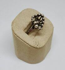 Vintage Estate Erik Granit Finland Sterling Silver Modernist Burst Ring ~ Sz 7