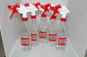 5 x Autoglym Calibrated Spray bottles with triggers 500ml Brand New