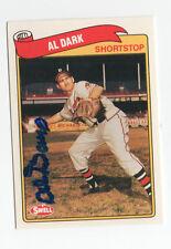 Al Dark 1989 Swell signed auto autographed card Milwaukee Braves