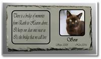 Pet Memorial Keepsake Natural Slate Custom Photo FREE 1st Post
