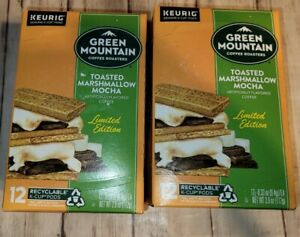 Green Mountain Toasted Marshmallow Mocha Coffee 24 K-Cups 2 boxes of 12 Fresh