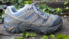 Womens Merrell Smoke Leather Hiking Trail Shoes Brown Grey Size 7 / 37.5