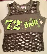 """Sexy 72 """"BABE"""" vert olive coton et résille femme taille 6"""